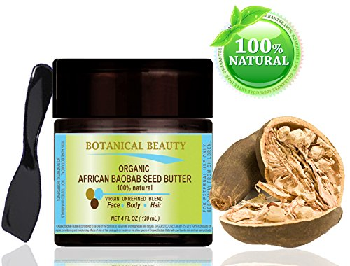 ORGANIC-AFRICAN-BAOBAB-SEED-BUTTER-100-Natural-100-PURE-BOTANICALS-VIRGIN-UNREFINED-BLEND-4-Fl-oz-120-ml-for-Skin-Hair-Lip-and-Nail-Care-One-of-the-richest-natural-sources-of-vitamins-A-D-F-E-and-a-re-0