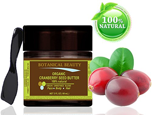 ORGANIC-CRANBERRY-SEED-BUTTER-100-Natural-100-PURE-BOTANICALS-VIRGIN-UNREFINED-BLEND-2-Floz-60-ml-For-Skin-Hair-and-Nail-Care-One-of-the-richest-natural-sources-of-vitamin-A-and-a-remarkable-and-stabl-0